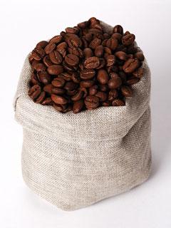 coffee beans - sisal bag