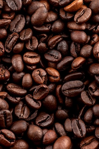 roasted arabica and robusta coffee beans